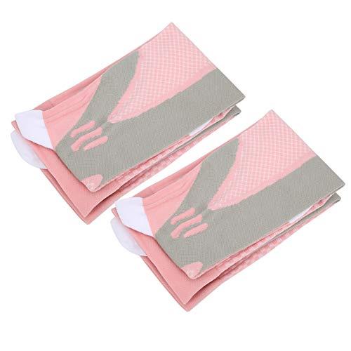 DAUERHAFT Sportsocken unterhalb des Knies Verschleißschutz 2 Paar/Satz Kompressionsstrümpfe Verhindern Besenreiser/Krampfadern(Pink)
