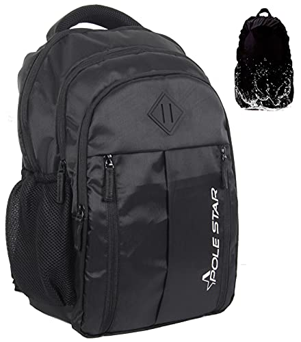 Polestar Enzo 35 Liters Polyester Black 15.6″ Casual Laptop Bag/Backpack With Rain Cover