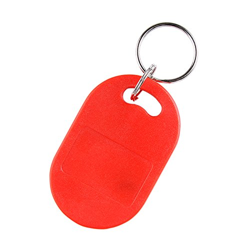 YARONGTECH Dual Frequency RFID Key Fob 125Khz EM4100 and 13.56Mhz MIFARE Classic 1K Chip (Pack of 10) (Red)