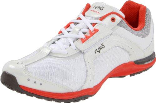 RYKÄ Enhance Mid Damen Fitnessschuhe weiss/silber Aerobic Sneaker Gr 40.5