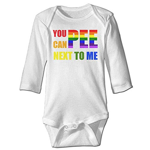 Baby You Can Pee Next to Me 100% Cotton Long Sleeve Bodysuit