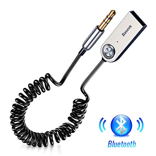 Bluetooth 4.2 4.0 Ontvanger Audio Zender, Handsfree USB Aux Bluetooth Adapter Dongle Kabel Voor Auto 3.5mm Jack Aux, Zwart