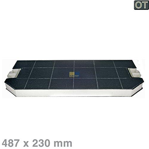 Bosch Siemens 460367 00460367 ORIGINELE koolstoffilter actief koolfilter filter geurfilter rechthoekig 487x230 mm afzuigkap ook DHZ3300 LZ33000 Z5146X0 Küppersbusch 537310