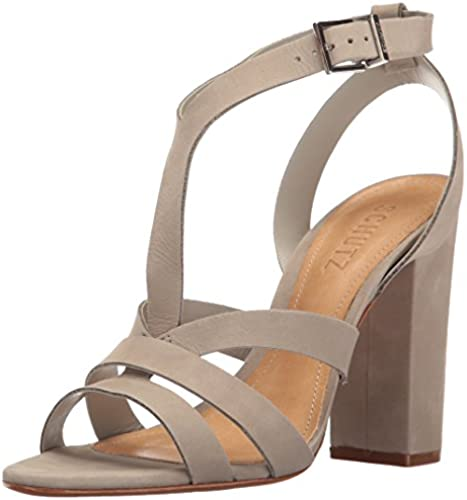 SCHUTZ damen& 039;s Veggy Dress Sandal, Cement, 7 M US