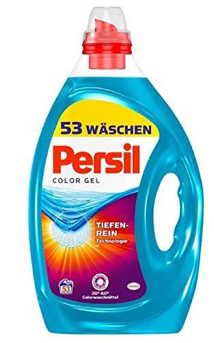 Persil Color Gel, Colorwaschmittel, 106 (2 x 53) Waschladungen, kraftvolle Fleckenentfernung für hygienisch reine Wäsche