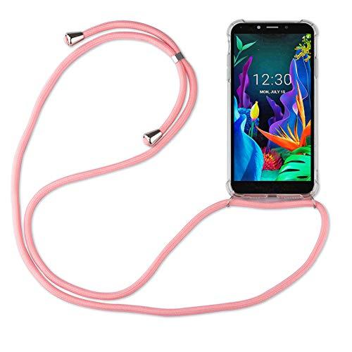 betterfon | LG K20 2019 Handykette Smartphone Halskette Hülle mit Band - Schnur mit Hülle zum umhängen Handyhülle mit Kordel zum Umhängen für LG K20 2019 Rosa
