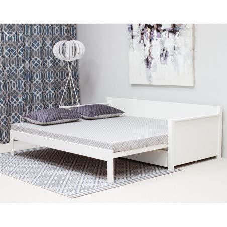 Alfred & Compagnie Arthur ausziehbares Bett mit Schublade 90-180/200 weiß