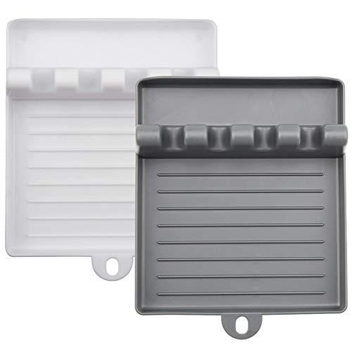 Estantes de silicona para cubiertos de cocina, estantes para cucharas, estantes para utensilios de cocina, estantes para espátulas antideslizantes resistentes al calor sin BPA y otros soportes