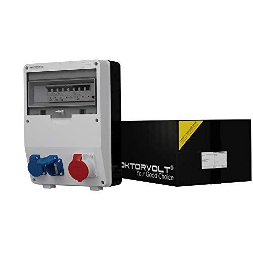 Distribuidor de corriente SEZ TD-S/Fi 1 x 16 A 2 x 230 V de la pared de obra de distribución cuadro de 6718