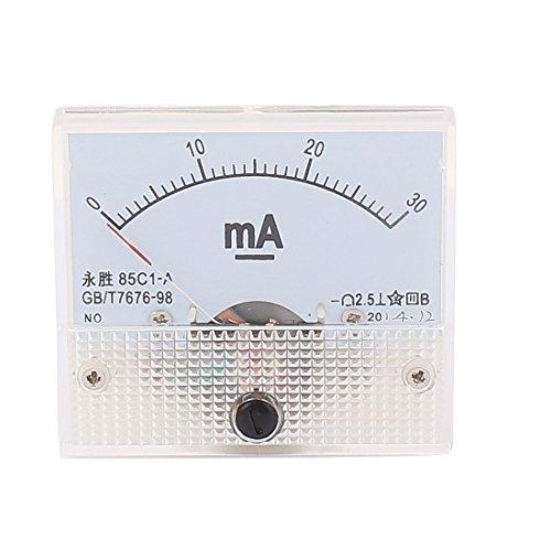 sourcingmap® 85C1-A DC 0-30mA Rechteck Paneel Meter Messer Strom Simulation Amperemeter de