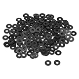 uxcell Nylon Flat Washers M4 10mm OD 4mm ID 1mm Thickness for Faucet Pipe Water Hose, Pack of 200