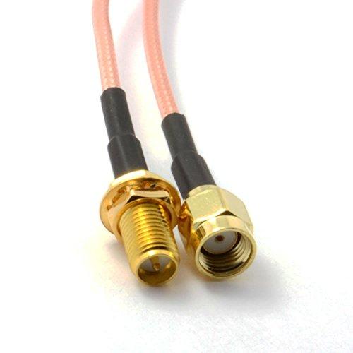 WiFi Antena Extensión Cable/Lead WiFi RP SMA 1 m [1 metros/1m]