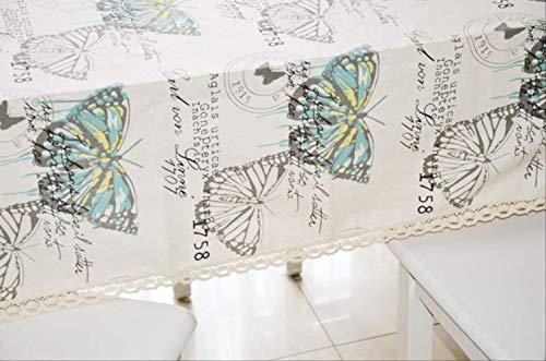 DUKEMG Mantel Simple con patrón de Mariposa Mantel de Boda Mantel para el hogar Mantel al Aire Libre Mantel fácil de Limpiar Fácil Decoración para el hogar Mantel 140 * 220cm A
