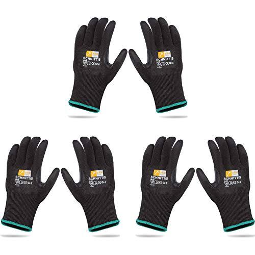 Zite Tools 3 Paar Schnittschutz-Handschuhe Kinder - Schutzhandschuhe zum Schnitzen und mehr - EN388 Level 5/5 - Größe 6