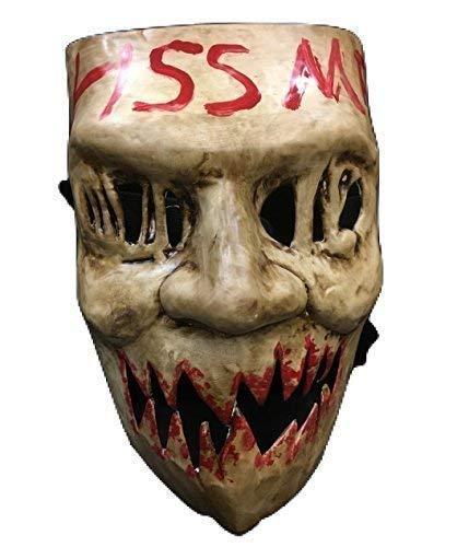 La Purga ELECCIONES Año ' KISS ME ' Universal Halloween Máscara con elástico correa
