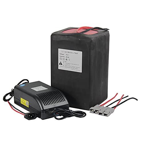 72V 30Ah Batería de Bicicleta eléctrica Alta Capacidad de Iones de Litio batería de BMS 50A for la E-Bici del Carro de Golf 1000W-1200W Motor Batería de Litio con energía Solar