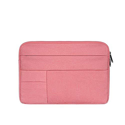 Baomasir Sleeve Case Oxford-Stoff wasserabweisend Laptop Hülle kompatibel 13-13,3 Zoll MacBook Pro/Air, Multi-Objekt-Tasche, große Kapazität, Pink
