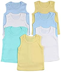 These tanks offer plush softness for everyday basics, given their ultrafine 100% Cotton composition with long lasting durability and comfort in mind. Made from soft absorbent fibers of cotton for the softest touch possible. Great for layering, or pla...