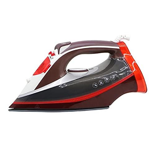 Plancha de vapor eléctrica de 2600 W, apta para secadoras de ropa, lavandería, multifuncional, para viajes en casa, color rojo
