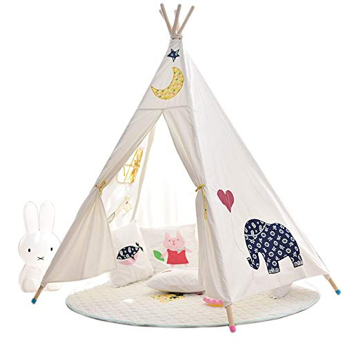 YLJB Kids Play Tent Kids Teepee Tent For Boys Indoor And Outdoor Playing Ideal Size For Children's Rooms Party And Holidays Decoration Children's Play House (Color : Elephant, Size : 110x110x155cm)