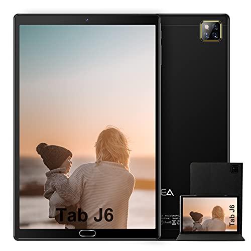 Tablet 10.1 Pollici Android 10.0 - RAM 4GB | ROM 64GB - WIFI -Octa core (Certificazione GOOGLE GMS) -JUSYEA Tablets - 6000mAh Batteria - Custodia di Alta Qualità(Nero)