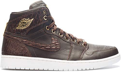Nike Herren Air Jordan 1 Pinnacle Turnschuhe, Braun/Gelb (Brq BRWN/Mtllc Gld-MTLC SMMT W), 45 1/2 EU