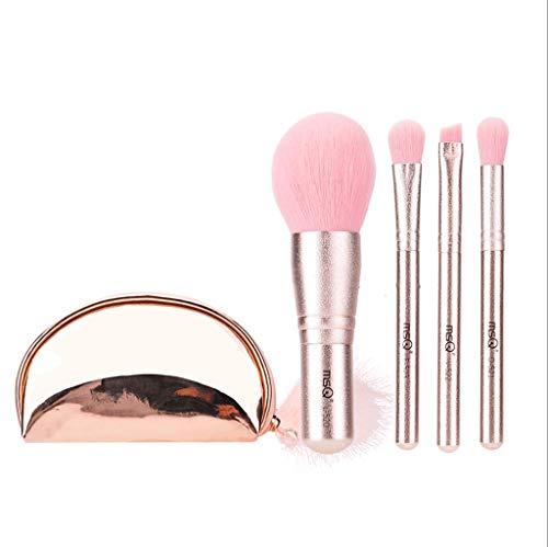 Pinceaux Maquillage Pinceaux De Beauté 4pcs Filles Flocon De Neige Mini De Débutant Brosse Portable