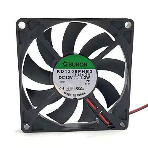 N / A Cooling Fan KD1208PHB3,Server Cooler Fan KD1208PHB3 12v 1.2w, Ultra-Quiet Motherboard Fan for 80x80x15mm