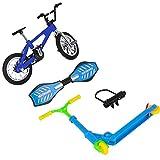 XHXseller Juego de monopatines de dedo, mini monopatín de juguete para niños, juguete educativo divertido para niños, desmontable y plegable