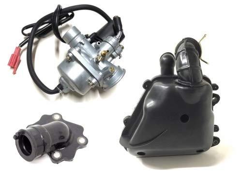 12mm Vergaser Luftfilter Ansaugstutzen Set für CPI Aragon, Generic Spin, Sachs, Keeway, CPI Aragon, Generic Spin, Yamaha Aerox Neos