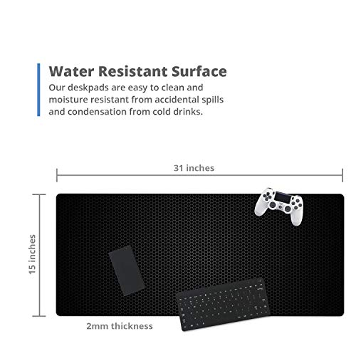 """French Koko Mouse Pad XL 30.7"""" x 14.9"""", Gaming Mouse, Computer Mouse Pads, Large Mouse Pad, Gaming Desktop, Gaming Desk Mat, Gaming Accessories, Mouse Gaming (Metal Workspace) Photo #2"""