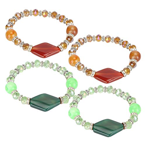 Fockety Craft Ornaments, Simple Design Elastic Crystal Bracelets, Sturdy Charm Bracelets, for Gifts Home