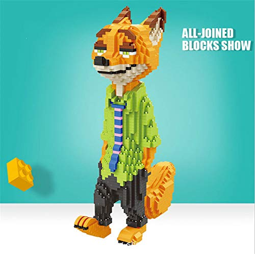 nacai 3D-Puzzle Judy Nick Small Particle Building Blocks Puzzle Familie Puzzles Hauptdekoration für Kinder und Erwachsene,Judy Fox