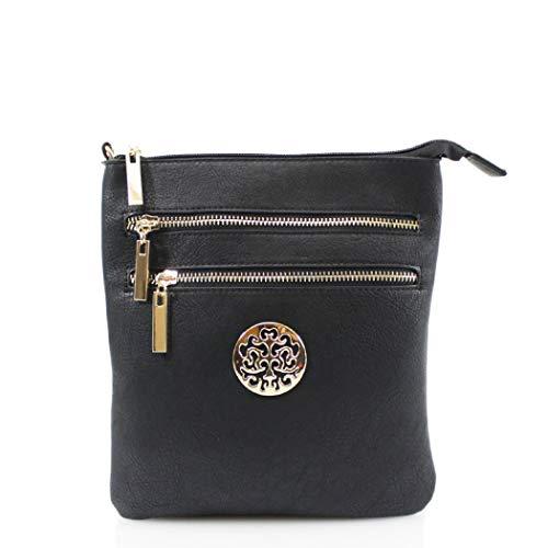 Cross Body Bag With Tree Logo, LeahWard Women's Designer Cross Body...