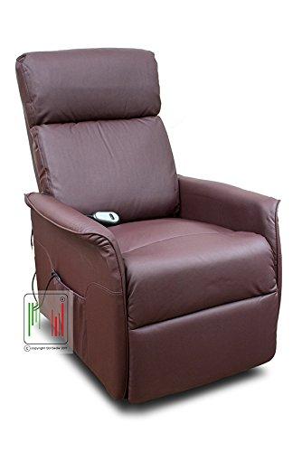 Stil Sedie Poltrona Nancy Recliner reclinabile Relax alzapersona con Telecomando Colore Bordeaux