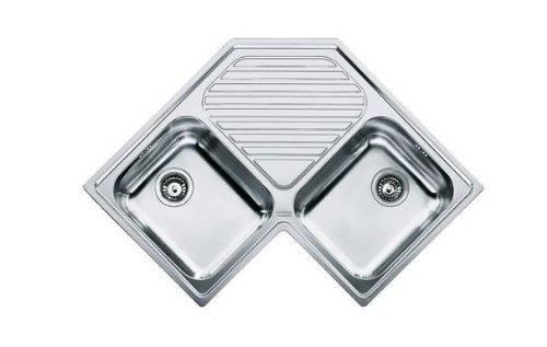 Franke PNX 621/E Acero inoxidable - Fregadero (Acero inoxidable, Acero inoxidable, 2 senos, 340 x 400 mm, 18 cm, 340 x 400 mm)