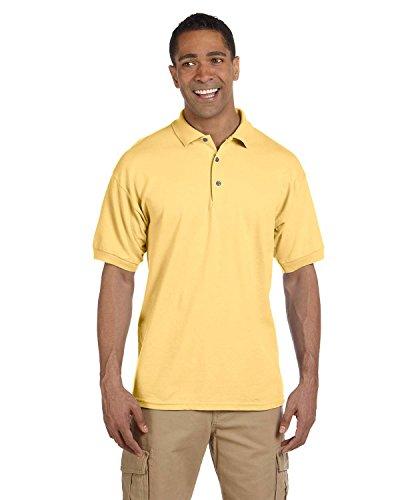 Gildan - Camiseta deportiva para adulto, 7 onzas, algodón piqué - Amarillo - Small