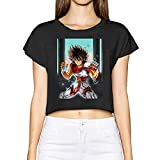 Gintamade Camiseta de mujer Pegasus Seiya de manga corta corta