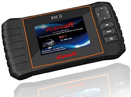 iCarsoft BMII kompatibel mit BMW & Mini Smart Diagnostic Scanner Tool SRS ABS Bremse Motor Reset EBP SAS DPF