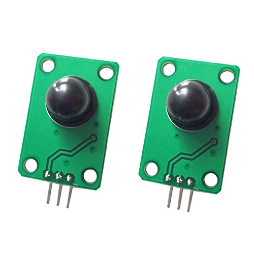 DollaTek 2PCS Pyroelectric Infrared sensor Human Body Detecting PIR Motion Sensor Module for Arduino MCU 011050 black optical lens