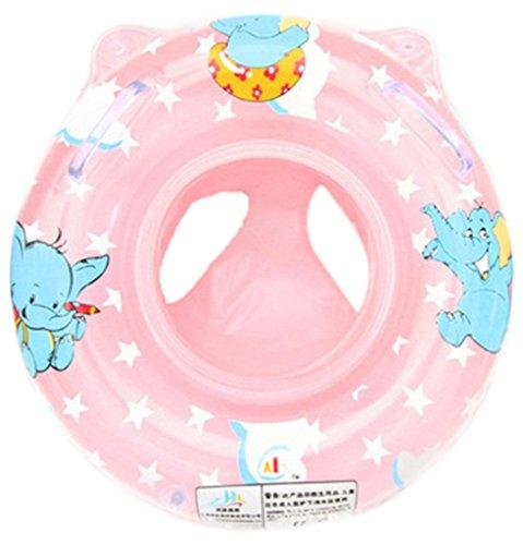 EOZY Bouée Bébé Jouets Piscine Flotteur Inflatable Swim Ring Éléphant Motif Rose