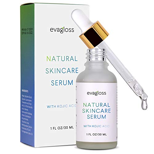 Kojic Acid Serum with Arbutin for Face and Body - Best Natural and Gentle Treatment for Skin Discoloration for All Skin Types, 1oz.