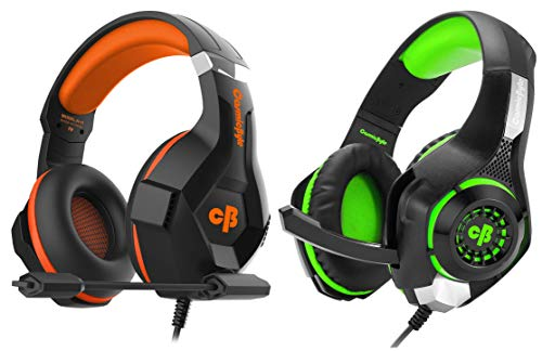 Cosmic Byte H11 Gaming Headset with Microphone (Black/Orange)&Cosmic Byte GS410 Headphones with Mic and for PS4, Xbox One, Laptop, PC, iPhone and Android Phones (