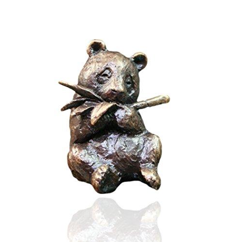 Panda - Miniatur-Tierfigur aus Bronze - Butler & Peach