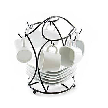 B. Smith 13-Piece Espresso Set with Stand