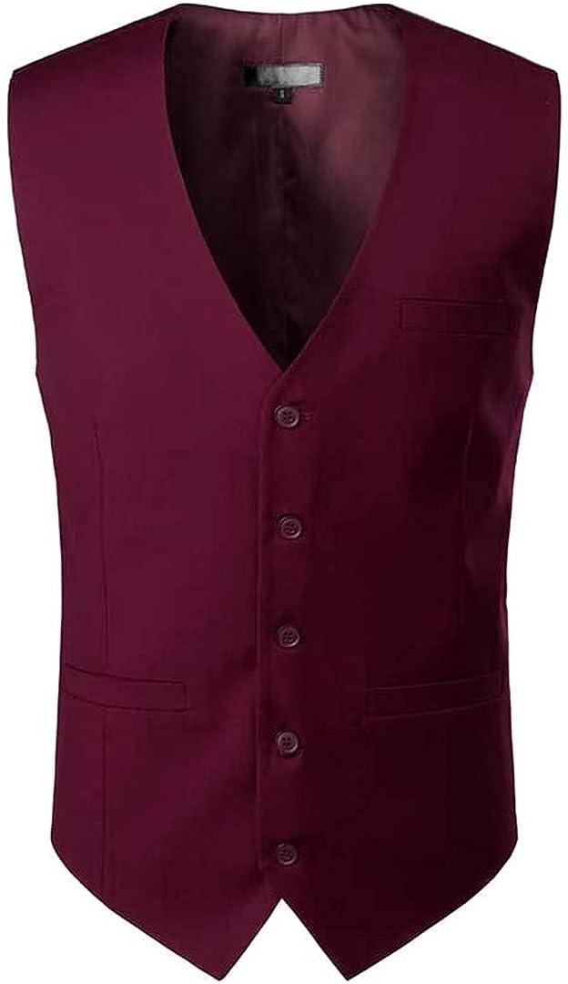 Ciystekn Royal Blue Mens Dress Suit Vest 2021 New Sleeveless Vests Waistcoat Men Formal Business Wedding Vests Male Gilet Homme Wine Red US Size L