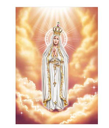 Diy Diamante Pintura Religiosa De La Virgen Regalo Para Punto De Cruz Iconos De Decoración Del Hogar Serie Diamante Bordado Pintura 40X55Cm A