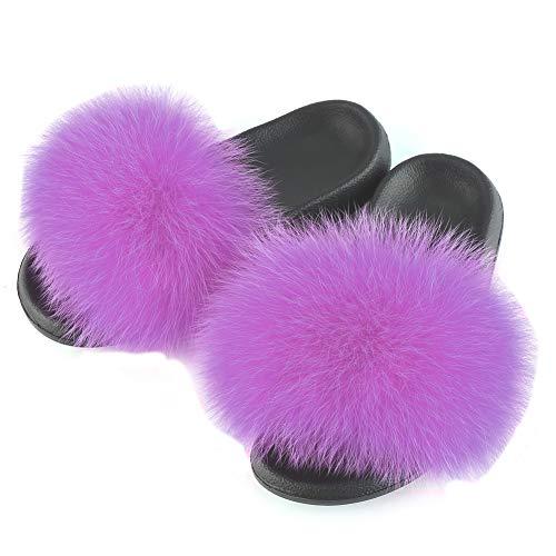 FOLOBE Donna Pelliccia Finta Ciabatte Moda Scarpe Sandali Pantofole Sandali Moda Ciabatte