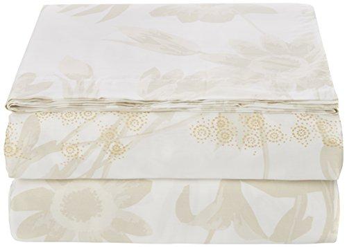 Essix - Drap Plat Promesse Satin de coton Perle 270 x 300 cm