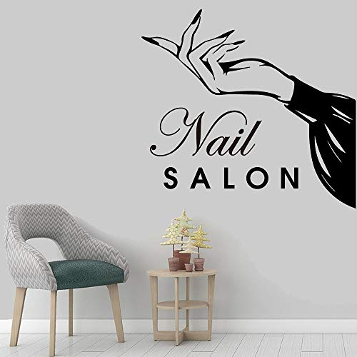 yaofale Nagel Salon Vinyl Wandaufkleber Beauty Salon Home Decoration Friseur Dekoration Home Wallpaper Aufkleber